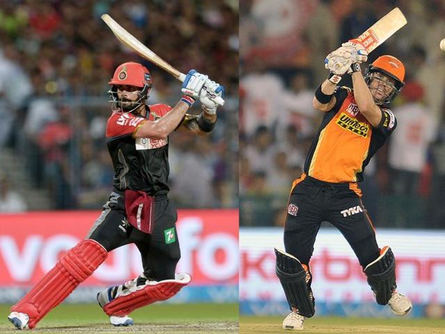 RCB captain Virat Kohli leads the bating charts, followed by his SRH counterpart  David Warner.