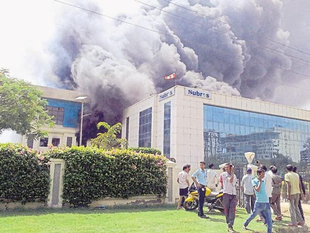 A major fire broke out at the The Manesar plant of Subros Limited on Sunday.