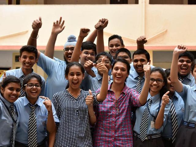 High scorers from Apeejay School in Nerul on Saturday.
