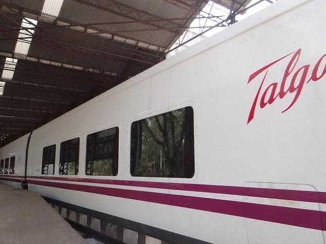 Indian Railways began the trial run of  Spanish Talgo train on Sunday, May 29, 2016.