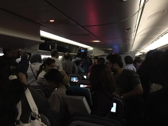 According to the stranded passengers UA 82 was on schedule but minutes before the touchdown time the pilots announced that it was being diverted to Mumbai.