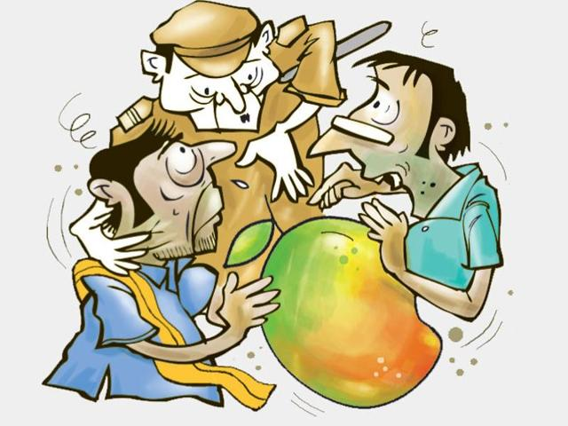 Police said Ramji Yadav and Hakim Yadav jointly owned a mango tree from which Ramji Yadav's kin plucked 24 mangoes on Friday evening. When the fruit was being distributed, Hakim claimed he was given only six mangoes. He insisted he should have got 12 mangoes.