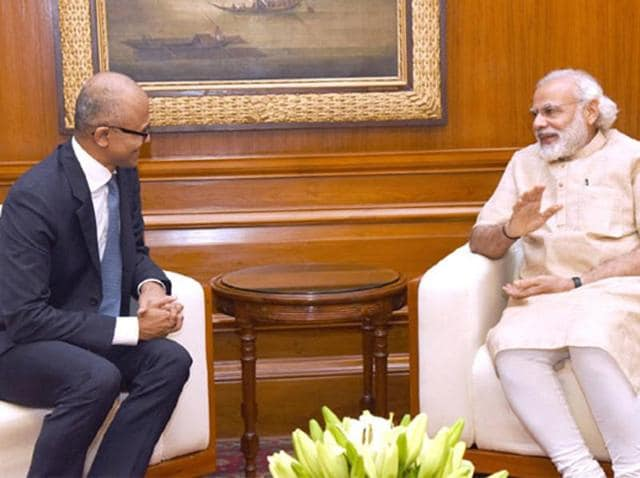 Nadella also met Communications and Information Technology Minister, Ravi Shankar Prasad to discuss the government's Digital India initiative and Microsoft's involvement in it.