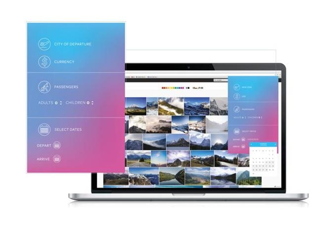 Tripstr works as a desktop app, using geo-tagged images available on Instagram and Flickr.