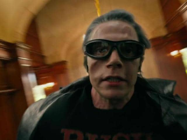 Evan Peters stars as Quicksilver in the X-Men movies.
