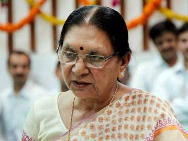 In this file photo, Gujarat chief minister Anandiben Patel can be seen at a function at Sabarmati riverfront.