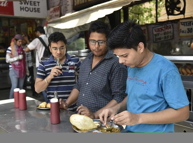 There are many places in South Delhi where chana bhatura or chhole bhature cannot be missed.
