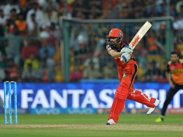 Royal Challengers Bangalore captain Virat Kohli plays a shot during the final of the 2016 IPL.