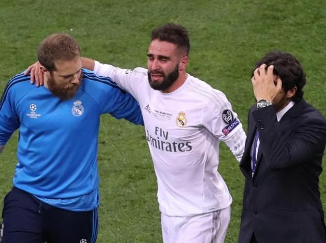 Carvajal was substituted in tears early in the second half of Saturday's Champions League final against Atletico Madrid in Milan.