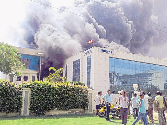 The fire broke out at Subros Ltd, an original equipment manufacturer (OEM) that supplies air conditioning systems to automobile manufacturers, onSunday afternoon.