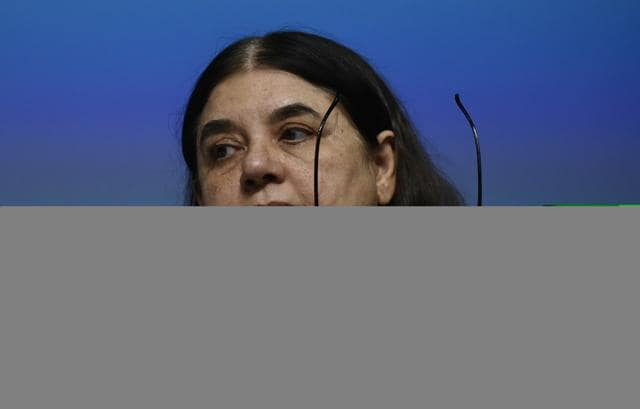 Union Women and Child Development Minister Maneka Gandhi releases the Draft Trafficking of Persons (Prevention, Protection and Rehabilitation) Bill 2016 in Delhi. (Photo by Vipin Kumar/ Hindustan Times)