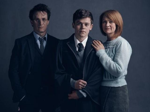 The first family portrait was released on Twitter Tuesday, and provides a glimpse of the Potter family in costume.
