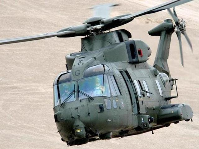 A photo of AgustaWestland AW101 chopper. India's defence minister Manohar Parrikar has said the process for blacklisting Finmeccanica and its subsidiaries – AgustaWestland is its British unit-- had started and a note sent to the law ministry.