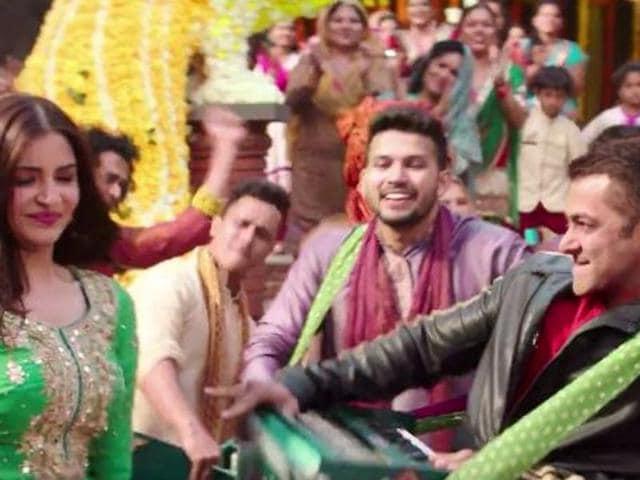 Anushka Sharma and Salman Khan in a still from Baby ko Bass Pasand Hai.