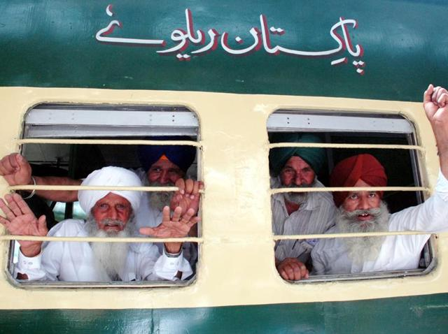 Sikh pilgrims aboard a special Pakistani train to Lahore last year. Now not welcome.