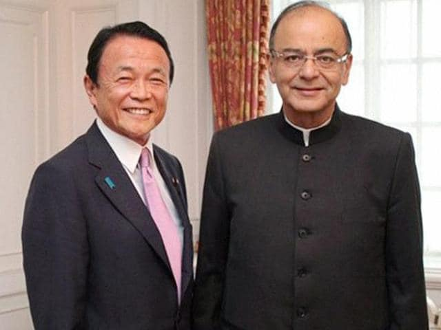 Finance minister Arun Jaitley meeting the deputy prime minister and finance minister of Japan, Taro Aso in Tokyo, Japan on Sunday, May 31, 2016.