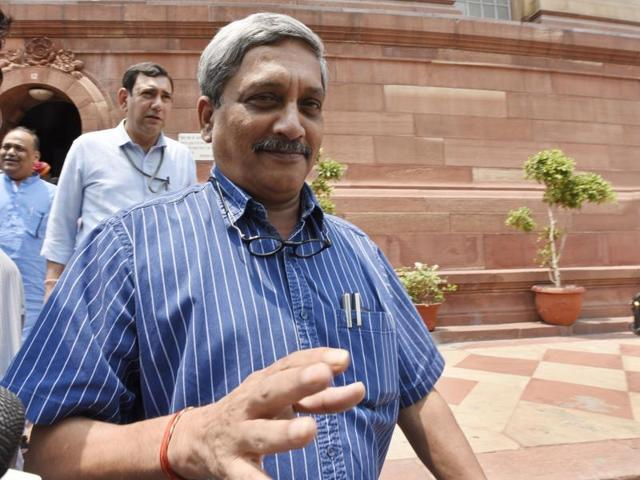 Parrikar will be travelling to Singapore on June 2 to attend the Shangri-La Dialogue from June 3-5.