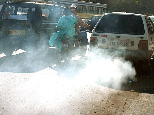File photo of vehicular pollution in Delhi.  The NGTis hearing a plea on pollution and diesel vehicle ban on Tuesday, May 31, 2016.