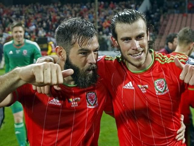 Gareth Bale (R) and Joe Ledley played a major role in Wales qualifying for its first major tournament since the 1958 World Cup.