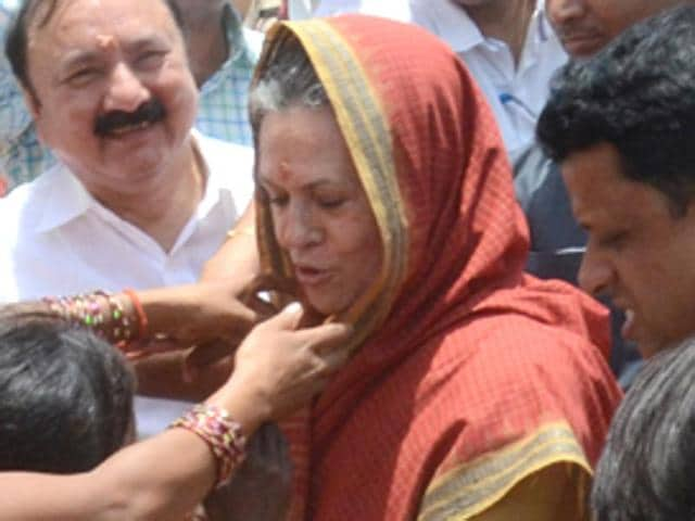 Congress president Sonia Gandhi attends a rally at Rae Bareli. On Tuesday, she backed her son-in-law Robert Vadra over the allegation that he owns a 'benami' property in London and termed the charge a political conspiracy.
