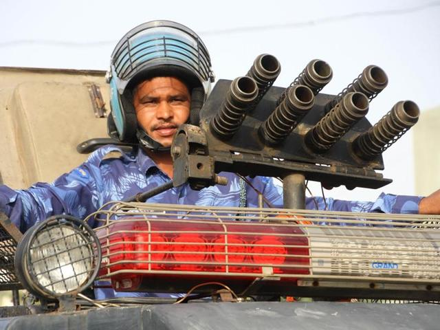 Two companies of the Rapid Action Force have been called in Rohtak.