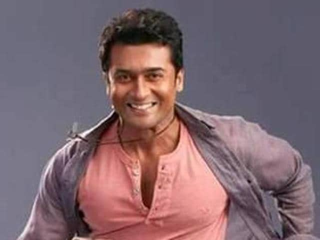 Suriya in a still from his latest film 24.