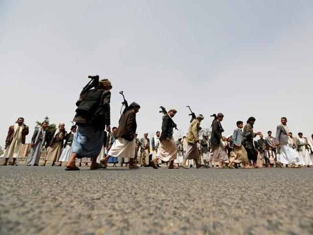 The Saudi-led Arab coalition provides military aid to support Yemeni forces resisting the Houthis.