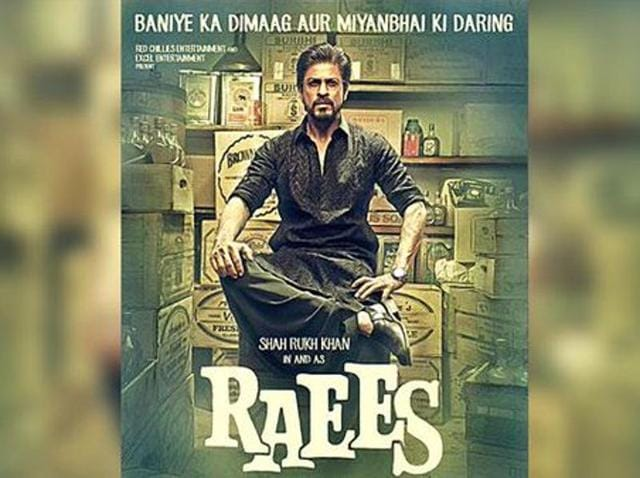 Shah Rukh Khan is turning the swag on in a black pathani suit in the poster of his upcoming film Raees.