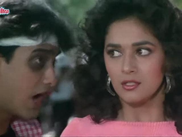 Madhuri Dixit,Aamir Khan,Dil