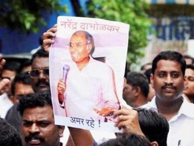 Rationalist Narendra Dabholkar, who was trying to get an anti-superstition and black magic bill passed, was shot dead in Pune in August 2013.