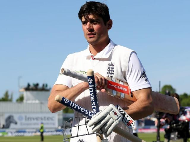 England's captain Alastair Cook became the twelfth batsman and the first Englishman to make 10,000 Test runs.