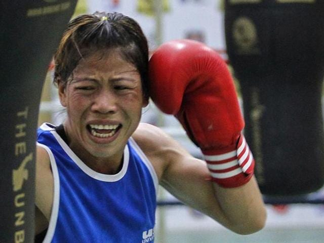 MC Mary Kom 's last hopes of making the cut for the Rio Olympics was dashed when AIBA refused to hand her the wildcard.(REUTERS Photo)