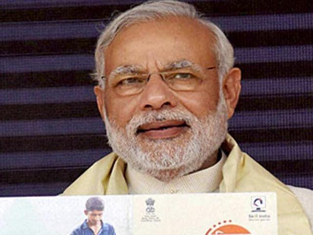 Prime Minister Narendra Modi released the National Disaster Management Plan (NDMP) in New Delhi on Wednesday.(PTI file photo)