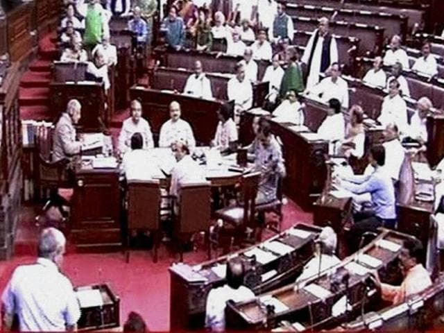The Rajya Sabha in New Delhi.