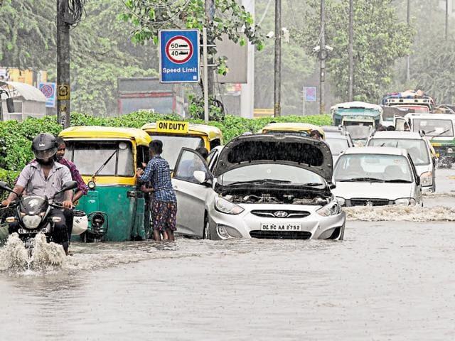 Monsoon,water-logging,delhi monsoon