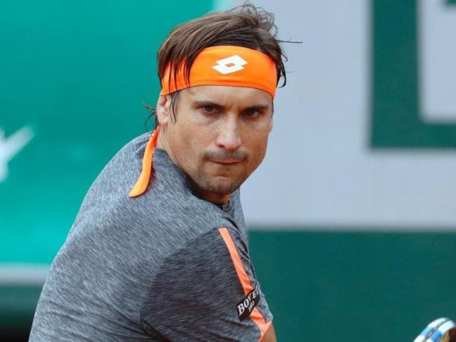 Ferrer and Tomas Berdych played just three games of their last-16 clash on Tuesday before a halt was called to the soggy affair.