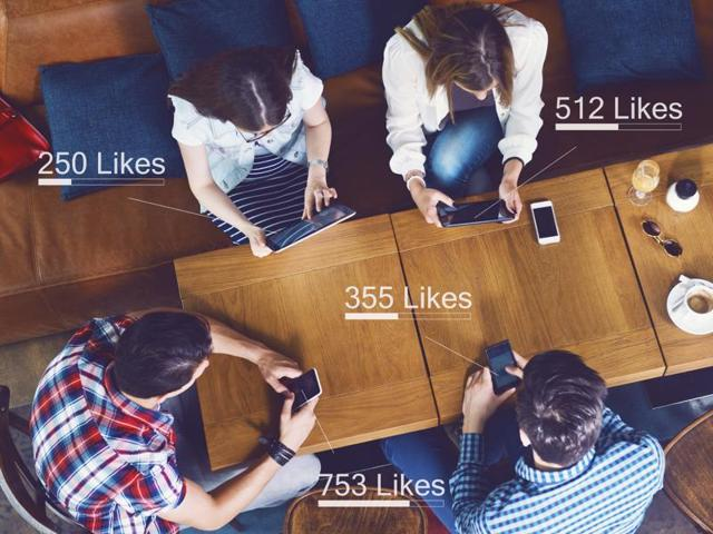 "A new study has found that when teenagers see large numbers of ""likes"" on their own photos on social networks, the same areas of the brain are activated as those related to addiction."