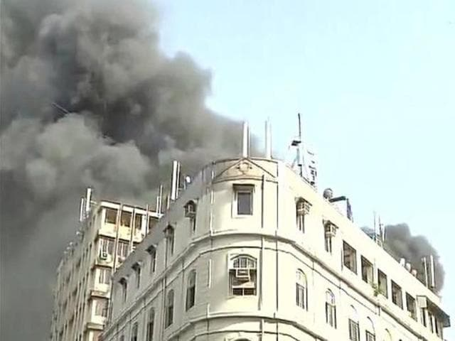 A front view of the building near Regal cinema in South Mumbai.