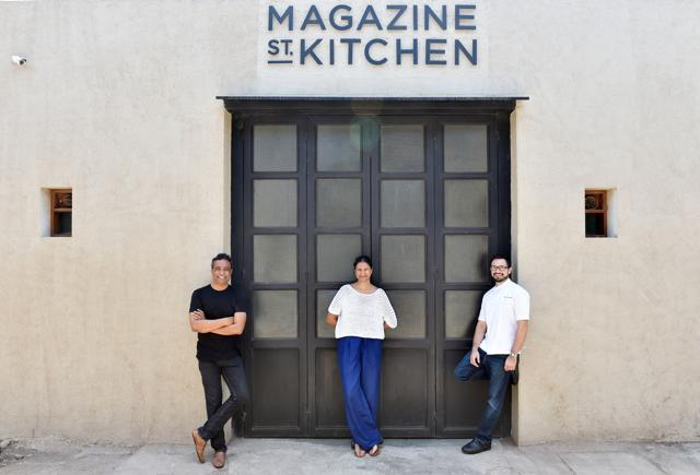 Started by the trio behind The Table —  (from left) Jay Yousuf, Gauri Devidayal, and Chef Alex Sanchez — Magazine Street Kitchen has been a work-in-progress for the past two years.