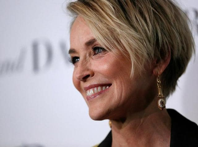Cast member Sharon Stone poses at a premiere for Mothers and Daughters at The London Hotel in West Hollywood.