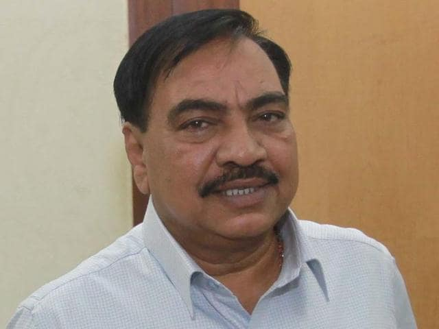 Maharashtra revenue minister Eknath Khadse