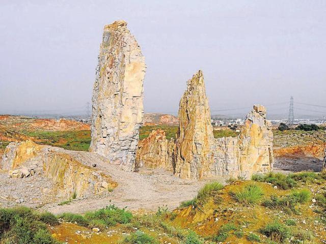 Mining hills in Rajasthan.
