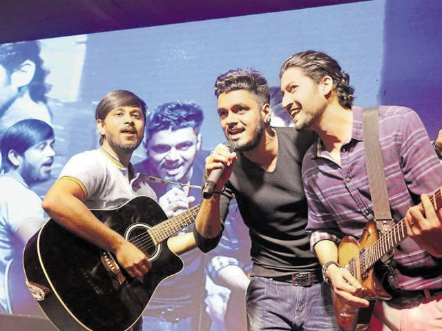 The four-member band Zehan (above) is a hit with their Bollywood numbers.