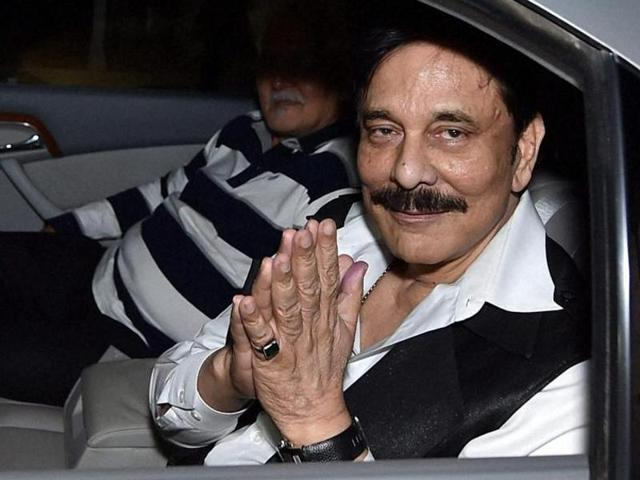 File photo of Sahara chief Subrata Roy. HDFC Realty will e-auction five properties owned by the Sahara group on July 4, 2016.