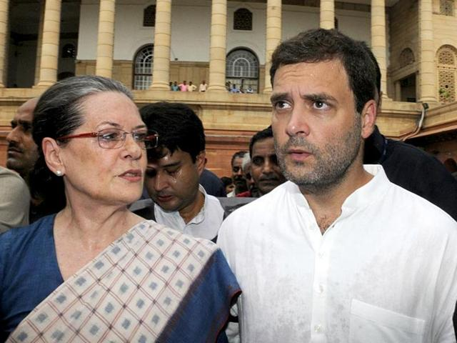 File photo of Congress president Sonia Gandhi and vice-president Rahul Gandhi. There has been speculation surrounding the elevation  of Rahul Gandhi as party president.