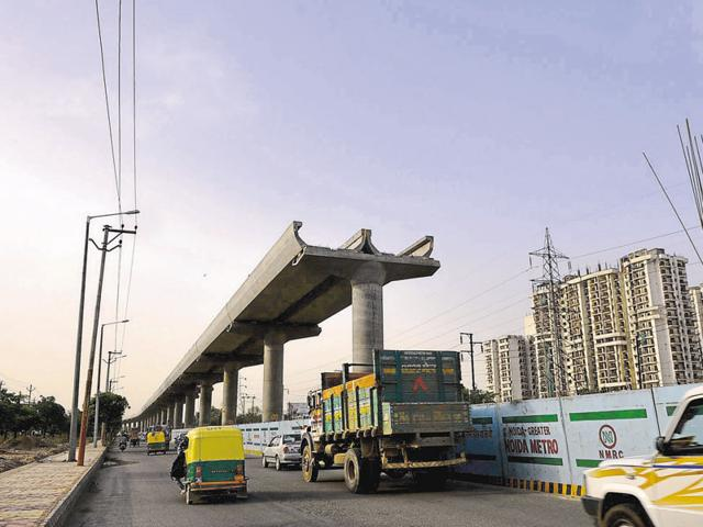 Most work on the Noida-Greater Noida Metro link is complete.