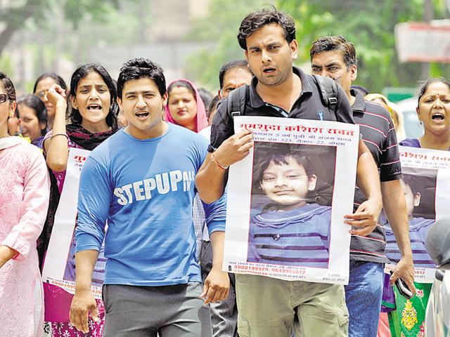 Parents of four-year-old Kashish had recently protested outside the district magistrate's office.