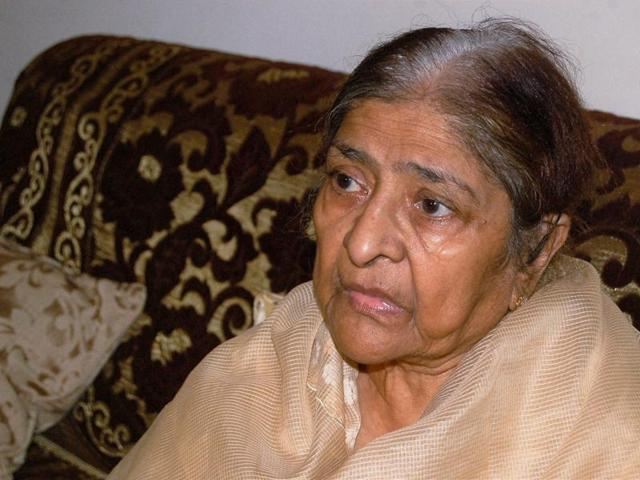 Zakia Jafri, the widow of former Congress lawmaker Ehsan Jafri, who was killed in the Gulberg massacre nine years ago.