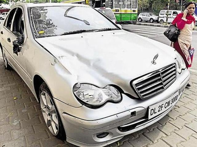 The Mercedes that mowed down a 32-year-old man at north Delhi's Civil Lines on April 4 had been involved in another case of traffic rule violation.