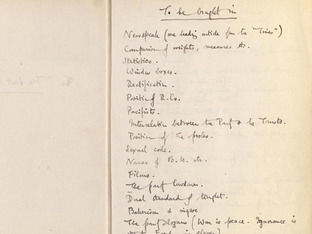 George Orwell,Viriginia Woolf,British Library